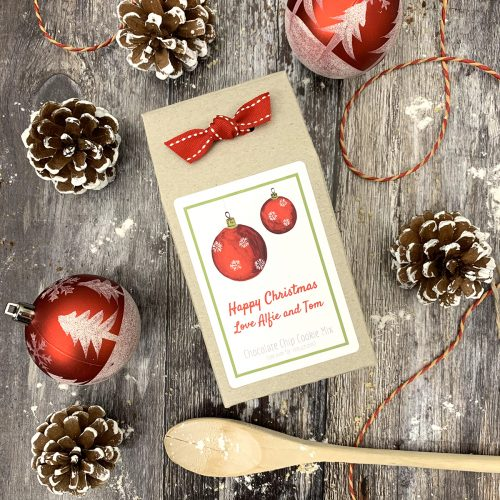 Christmas Bauble Shortbread or Cookie Baking Mix
