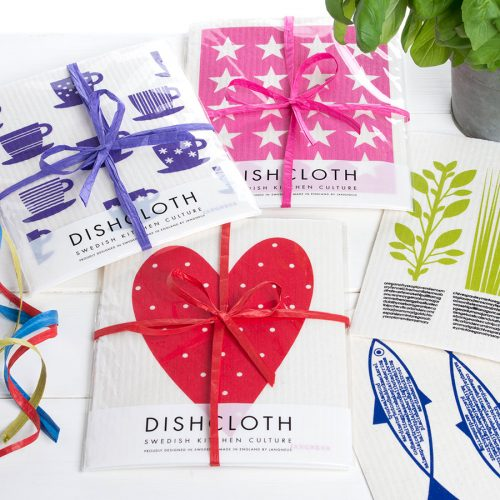 Set of Swedish Designed Eco-Friendly Dish Cloths