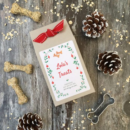 Personalised Christmas Dog Biscuit Kit