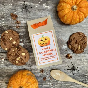 Halloween Pumpkin Double Chocolate Chip Cookie Mix Gift Box/Party Bag