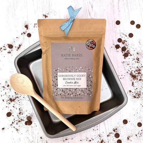 Eco Chocolate Brownie Baking Kit with Baking Tin and Wooden Spoon