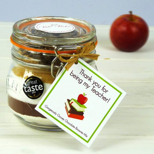 Brownie Baking Mix Jar Teacher Gift