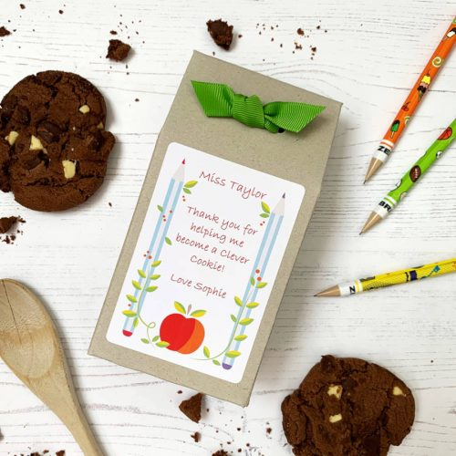 "Choc Chip Cookie Mix Teacher Gift – ""Pencils"""