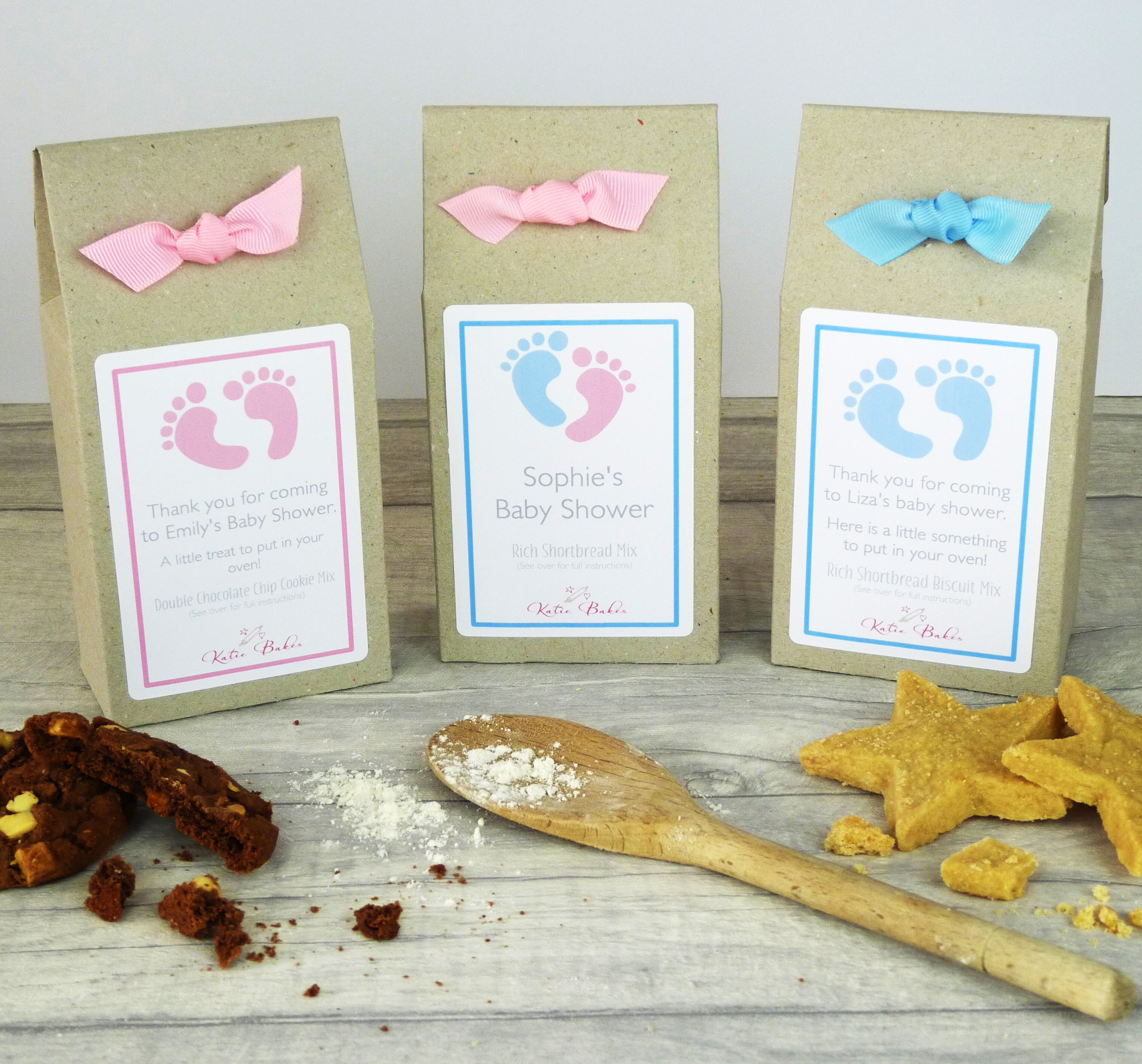 Baby Shower Choc Chip Cookie Mix Party Bags – Katie Bakes – Artisan ...