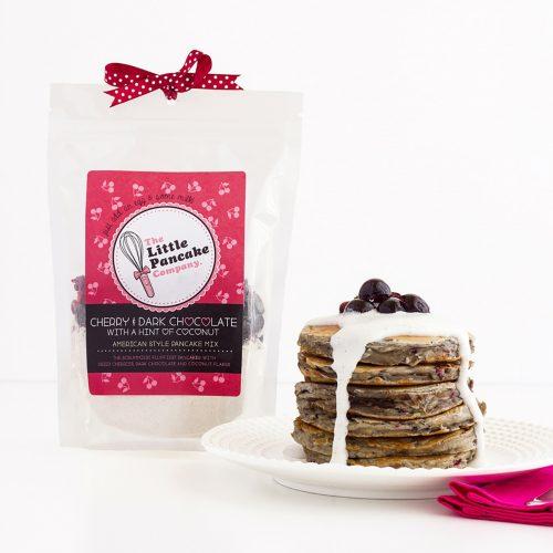 Gourmet Cherry and Dark Chocolate American Style Pancake Mix