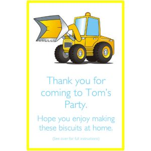 Personalised Party Bags – Digger