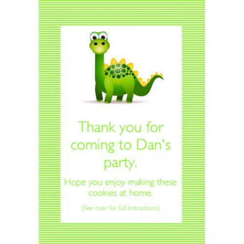 Dinosaur party bag design