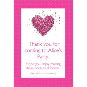 Personalised Party Bags – Hearts