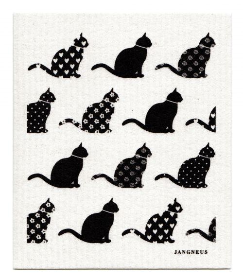 Black cat dishcloth
