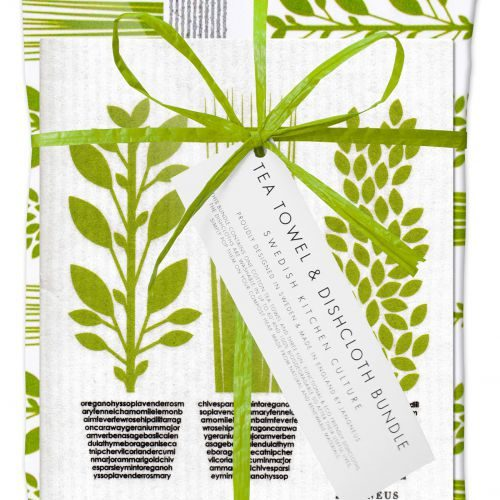 Herbs Dishcloth and Tea Towel Gift Set