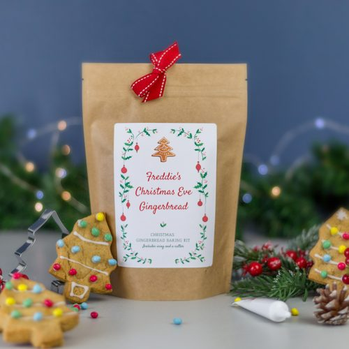 Personalised Gingerbread Christmas Tree Baking Kit