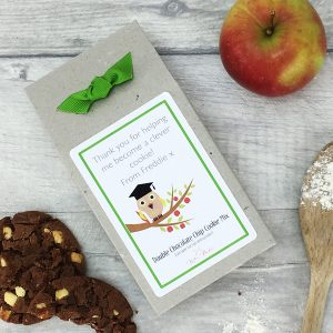 "Personalised Chocolate Cookie Mix Teacher Thank You Gift – ""Wise Owl"""