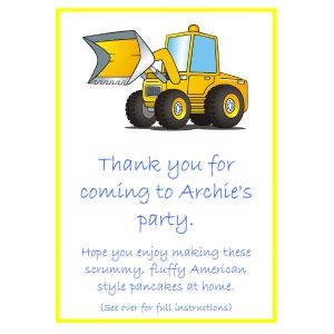Pancake Mix Party Bags – Digger