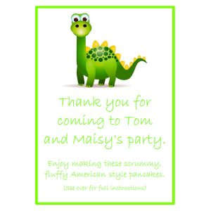 Pancake Mix Party Bags – Dinosaur