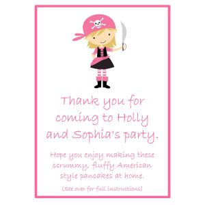 Pancake Mix Party Bags – Pirate Girl
