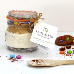 Chocolate Spotty Dotty Mix in a Jar