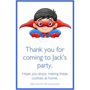 Personalised Party Bags – Superhero Boy