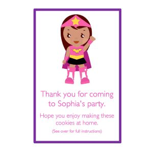 Personalised Party Bags – Superhero Girl