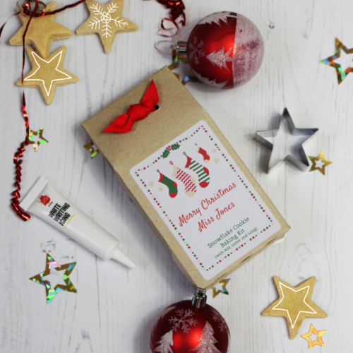 Teacher Christmas Baking Kit With Star Cutter And Icing