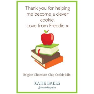 "Choc Chip Cookie Mix Teacher Gift – ""Apple"""