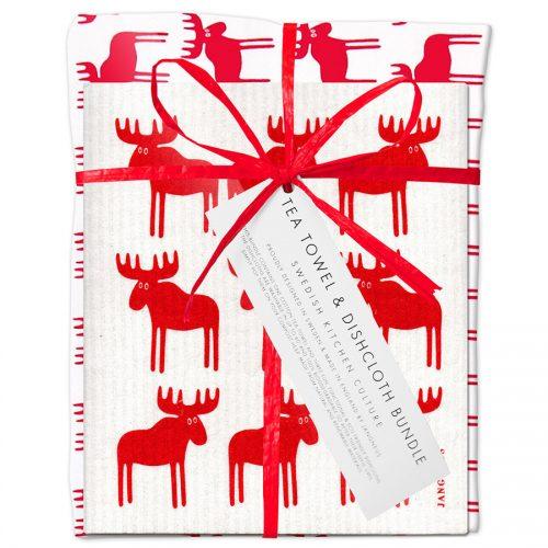 Christmas Tea Towel & Dishcloth Set