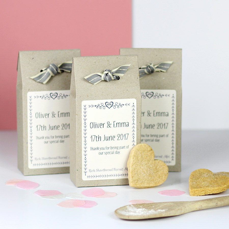 Personalised Shortbread Mix Wedding Favours – Katie Bakes – Artisan ...