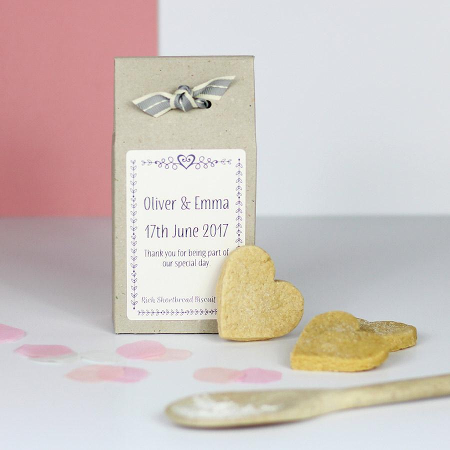 Personalised Shortbread Mix Wedding Favours – Katie Bakes – Artisan ...